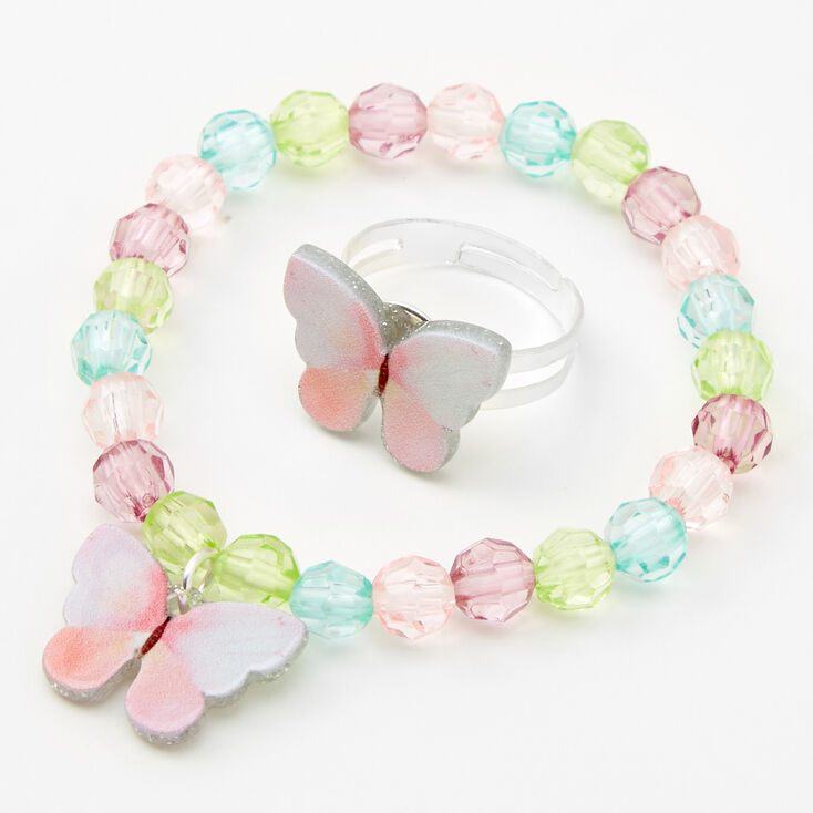 Claire's Club Pastel Butterfly Jewelry Set - 3 Pack,