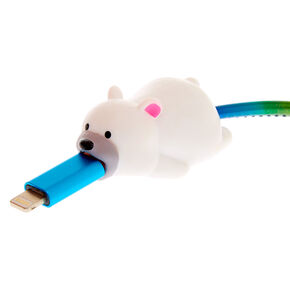 MojiPower® Polar Bear Cable Protector - White,