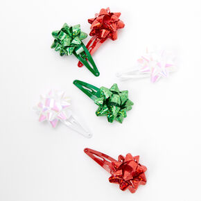 Gift Bow Snap Hair Clips - 6 Pack,