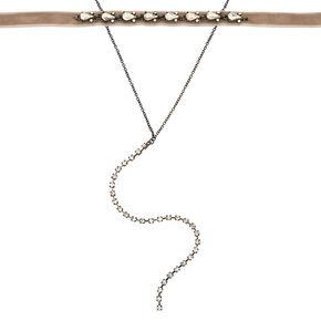 Hematite Velvet Glam Necklaces - 2 Pack,
