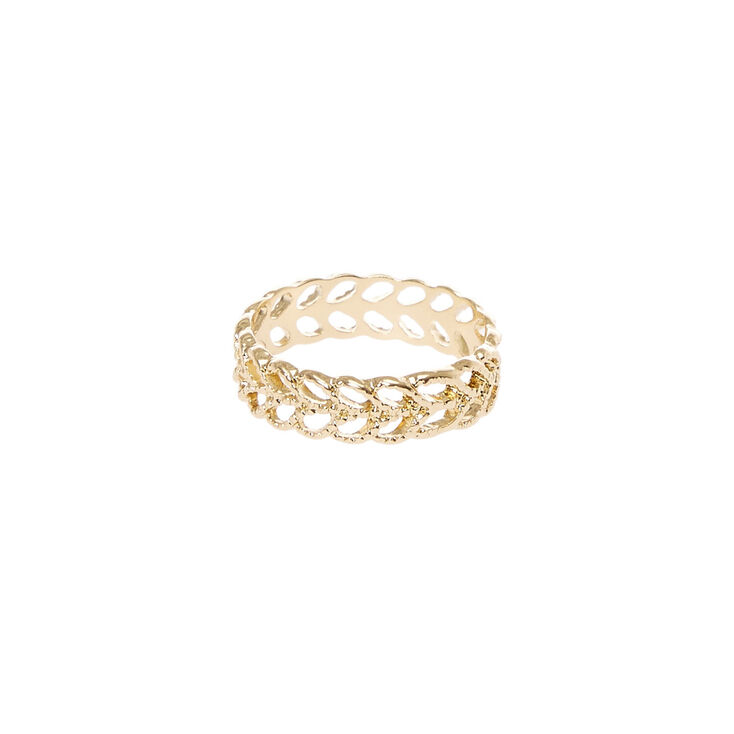 Gold Leaves Band Ring,