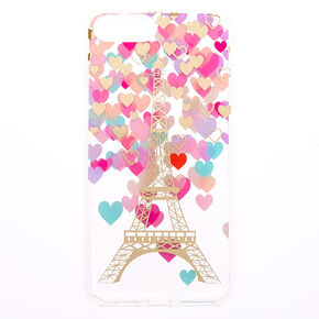 Parisian Romance Clear Protective Phone Case - Fits iPhone 6/7/8 Plus,