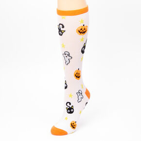 Halloween Icon Crew Socks - White,