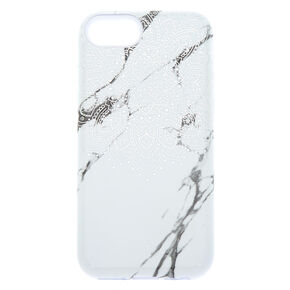 White Mandala Marble Protective Phone Case - Fits iPhone 6/7/8/SE,
