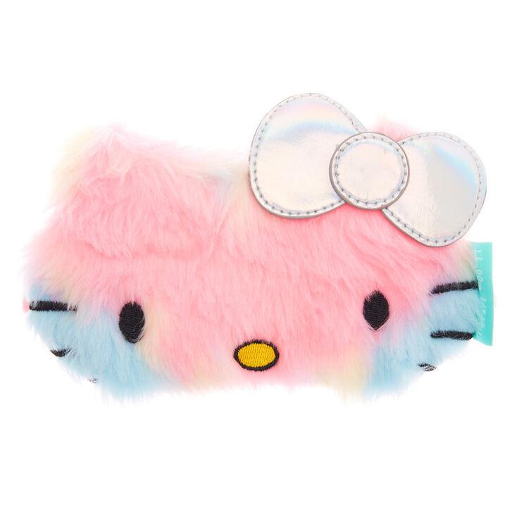 6a3dbd253b0 Masque de sommeil arc-en-ciel pastel en fausse fourrure Hello Kitty reg
