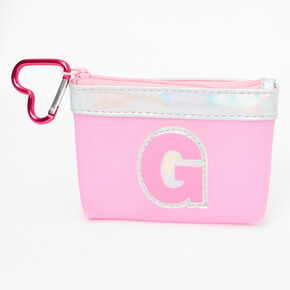 Pink Initial Coin Purse - G,