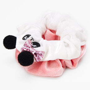 Claire's Club Medium Glitter Panda Scrunchie - Pink,