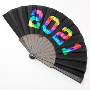 2021 Graduation Folding Fan - Black,