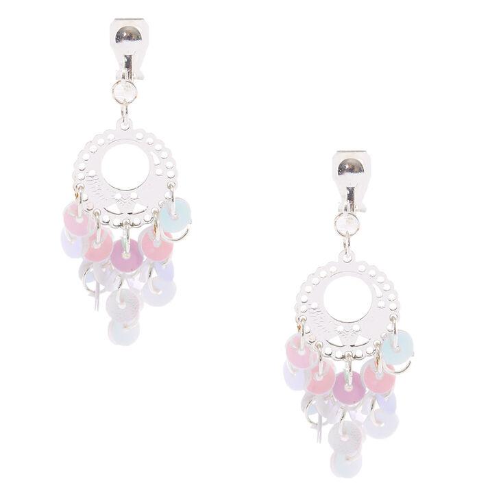 Chandelier Clip On Drop Earrings