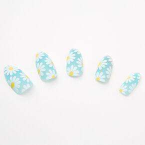 White Daisies Stiletto Faux Nail Set - 24 Pack,