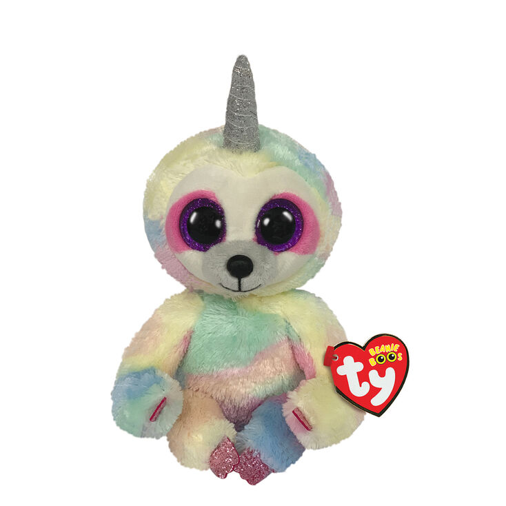 Stuffed Squirrel Animals, Ty Beanie Boo Small Cooper The Unicorn Sloth Plush Toy Claire S Us