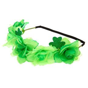 Shamrock Flower Crown Headwrap - Green,
