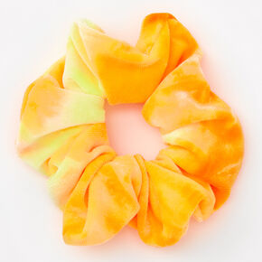 Medium Citrus Ombre Velvet Scrunchie - Yellow,