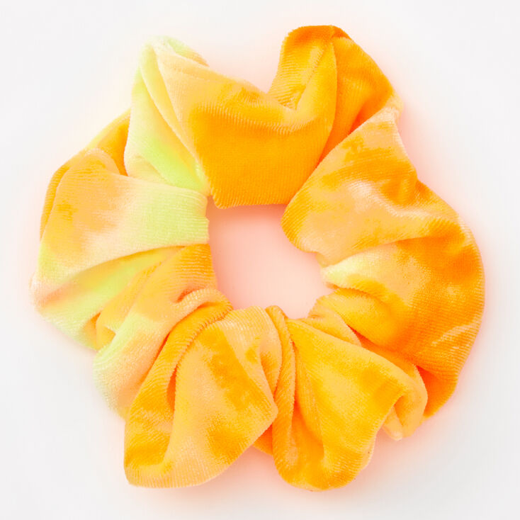 Medium Citrus Ombre Velvet Scrunchie - Yellow,
