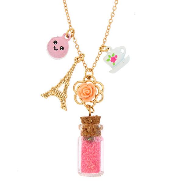 Claire's - paris charm bottle pendant necklace - 1