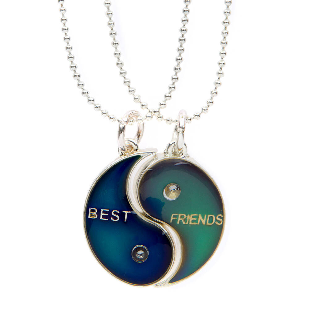 New Ying and Yang BEST FRIENDS Best Friend BFF 2 Piece Necklace Pendant