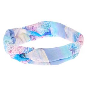 Watercolour Mandala Wide Jersey Headwrap,