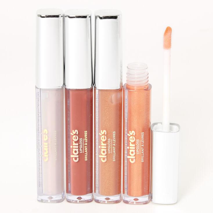 Mini Neutrals Lip Gloss Set - 4 Pack,