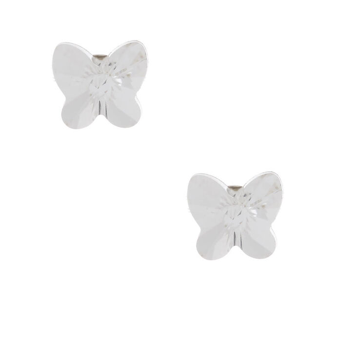 online retailer how to get pretty nice Sterling Silver 5MM Swarovski® Elements Butterfly Earrings