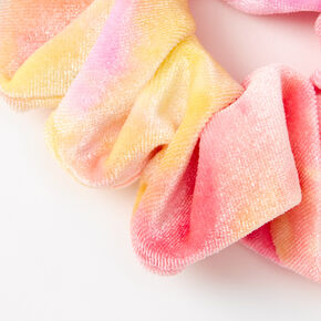 Medium Sunset Ombre Velvet Hair Scrunchie - Pink,