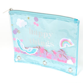 Trousse à sequins mobiles « Happy Things » - Turquoise,