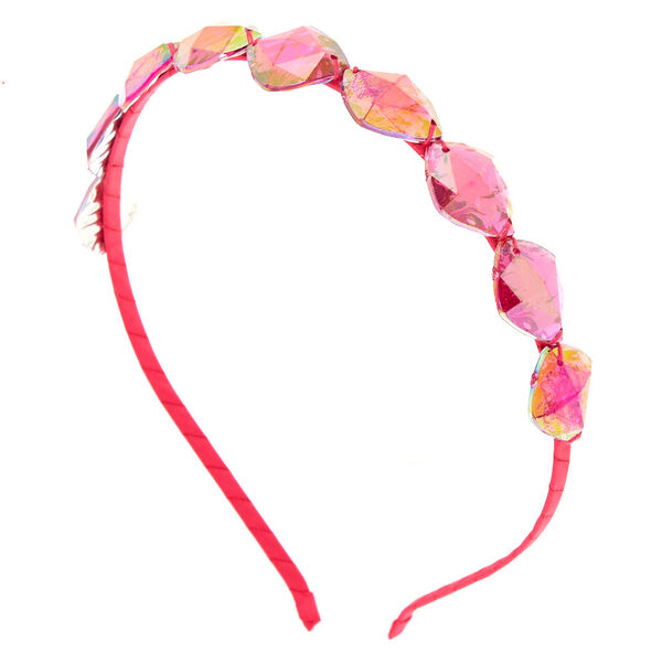 Claire's - iridescent gem headband - 1