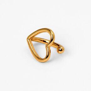 Fausse boucle d'oreille pour tragus contour de cœur couleur dorée,