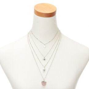Mystical Stone Multi Strand Choker Necklace,