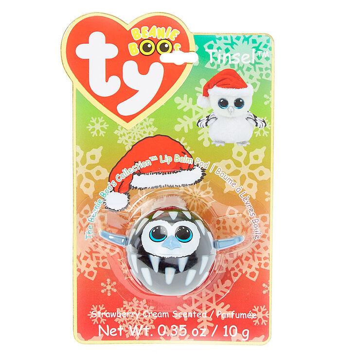 Ty Beanie Boo Tinsel the Snow Owl Lip Balm Pod  35e023ac75a2