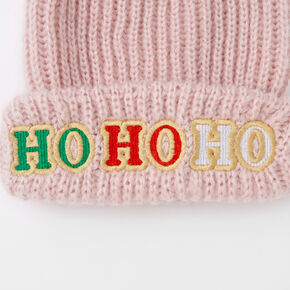 Ho Ho Ho Pom Beanie - Pink,