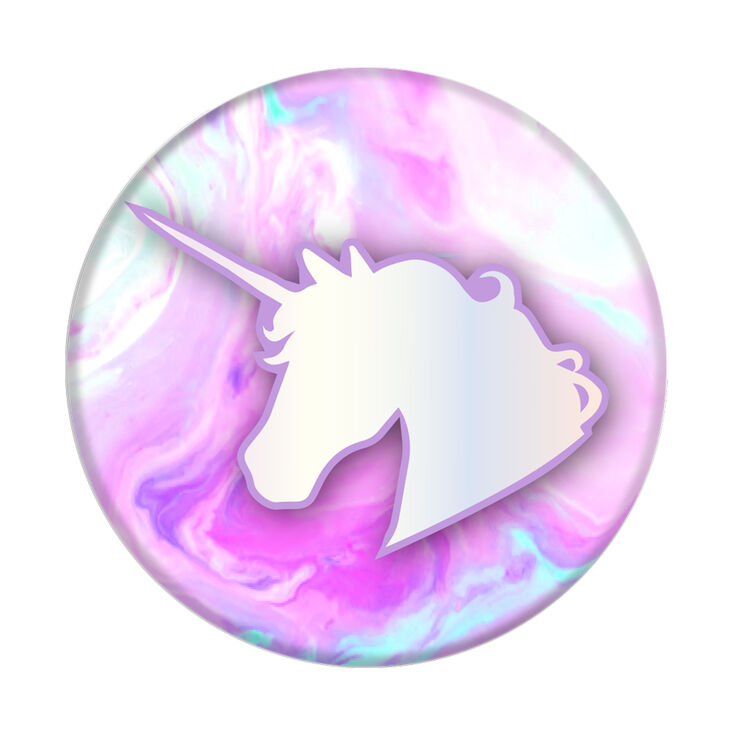 PopSockets Swappable PopGrip - Marble Unicorn,