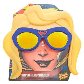 Lunettes de soleil bleues super-héroïne Superwoman DC,