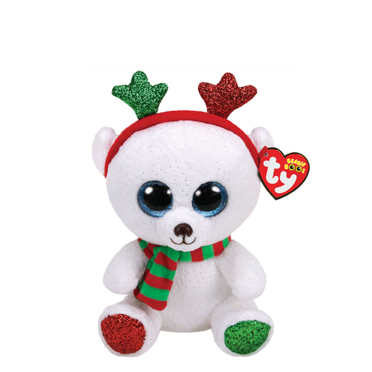 4c579ddc4fe Ty Beanie Boo Small Frost the Christmas Bear Soft Toy