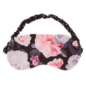 Floral Polka Dot Sleeping Mask - Black,
