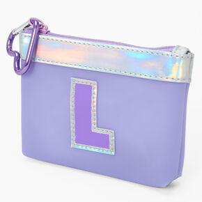 Initial Coin Purse - Purple, L,