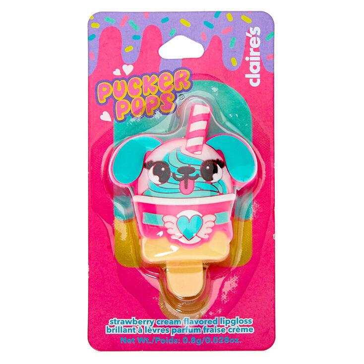 Pucker Pops Puppy Frappe Lip Gloss - Strawberry Cream,