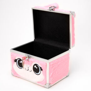 Furry Bunny Locking Makeup Case - Pink,
