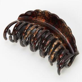 Medium Oil Slick Hair Claw - Brown,