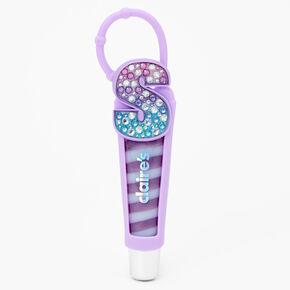 Tube de gloss à initiale - Violet, S,