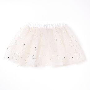 Claire's Club Disco Glitter Tutu - White,