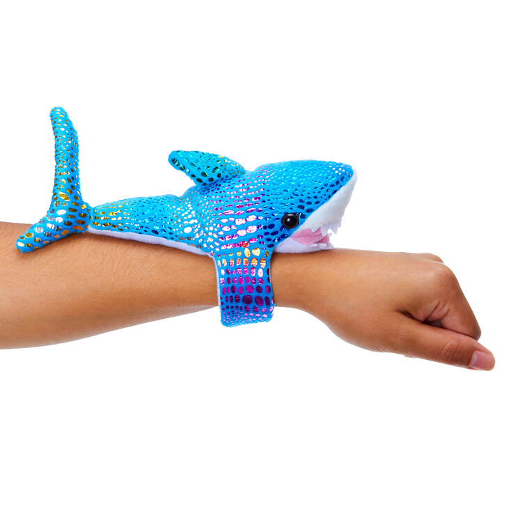 Claire's Club #Lovable Huggable® Shark Slap Bracelet - Blue,
