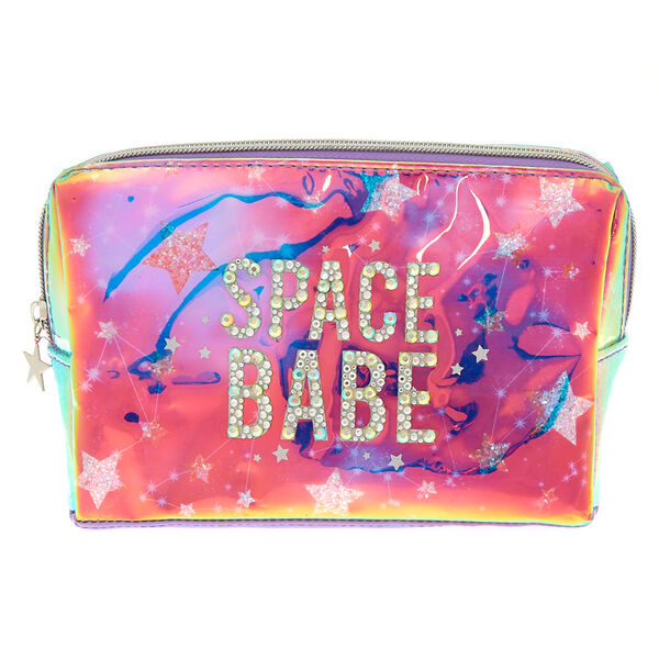 Claire's - spacebabe holographic makeup bag - 1