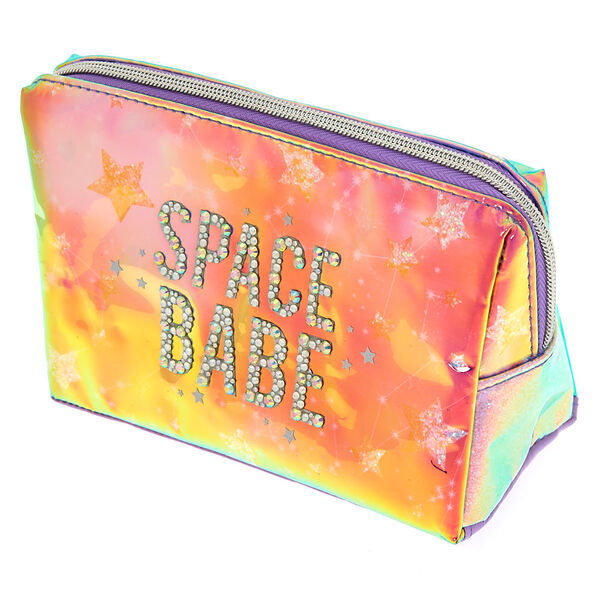 Claire's - spacebabe holographic makeup bag - 2