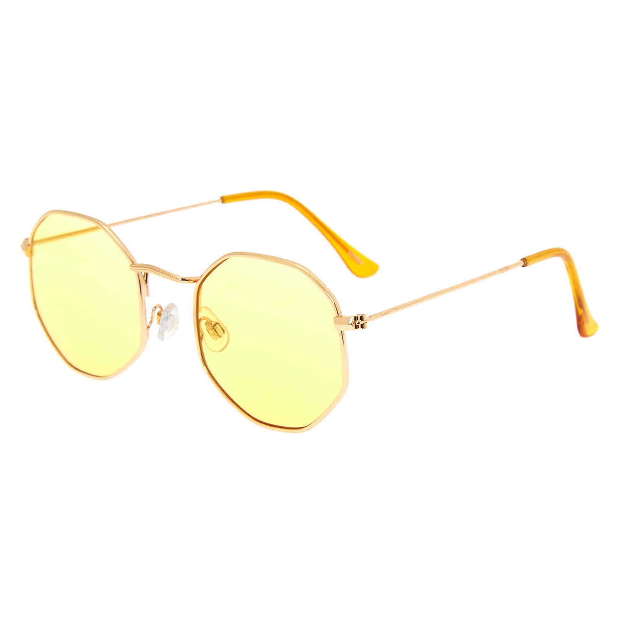 a57038c4a70 Octagonal Sunglasses - Yellow ...