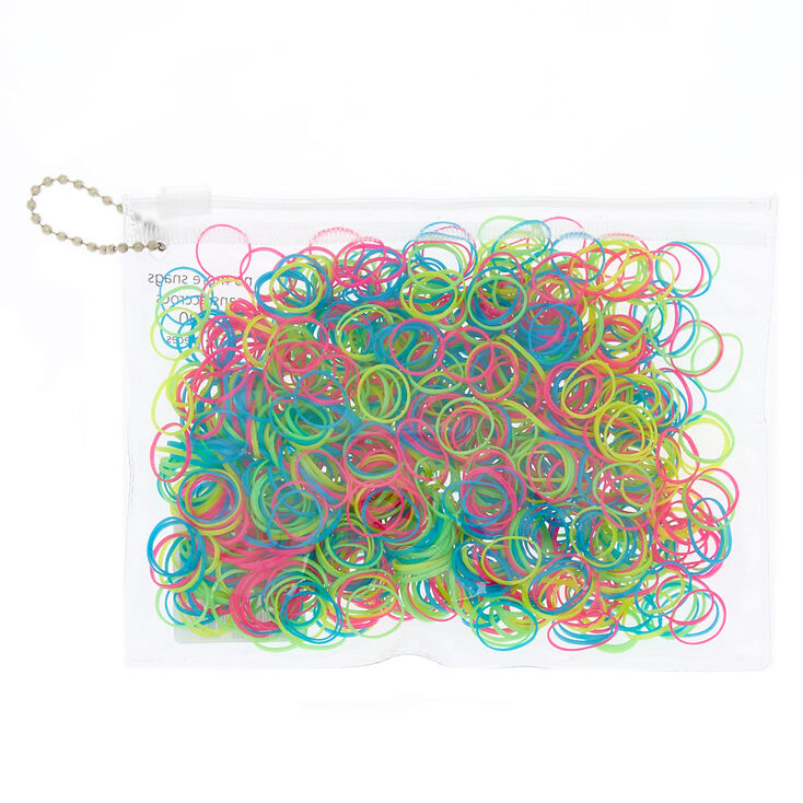 No More Snag Rainbow Hair Ties - 1000 Pack,