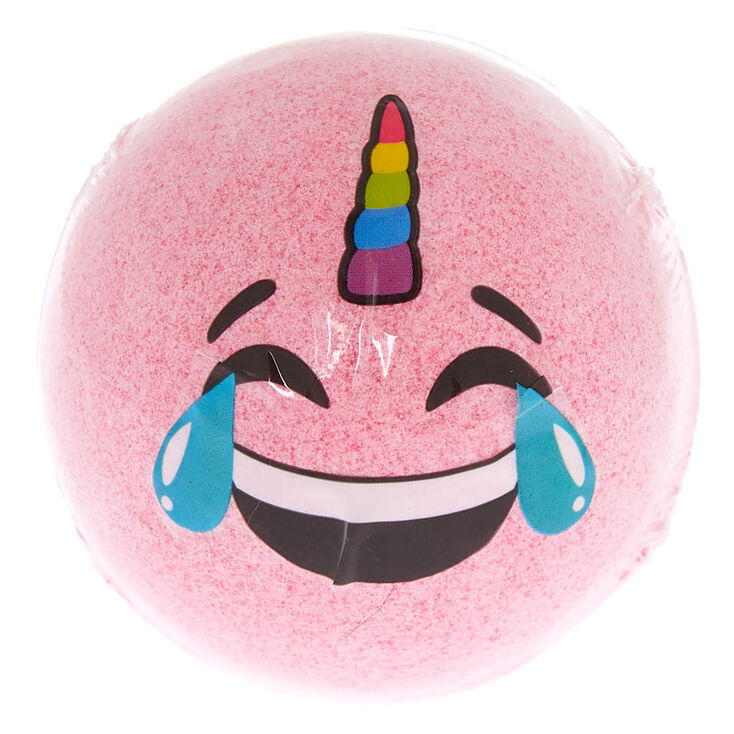 Crying Unicorn Emoji Bath Bomb Pink Claire S Us