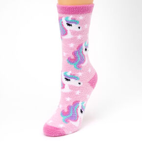 Unicorn Crew Socks - Pink,