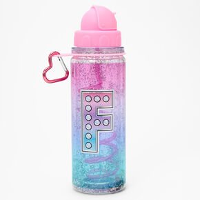 Initial Water Bottle - Pink, F,
