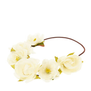 Ivory Flower Headwrap,