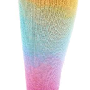 Chaussettes montantes arc-en-ciel tie-dye aux tons pastel,